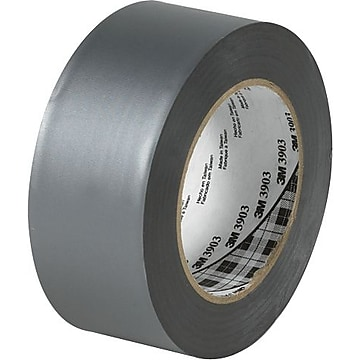 "3M 3903 Duct Tape, 6.3 Mil, 2"" x 50 yds, Gray, 3/Case (T98739033PK)"