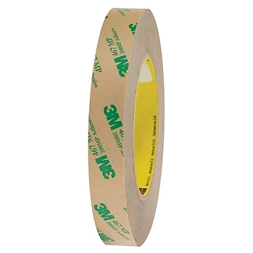 """3M 467MP Adhesive Transfer Tape, Hand Rolls, 2.0 Mil, 3/4"""" x 60 yds., Clear, 6/Case (T964467MP6PK)"""
