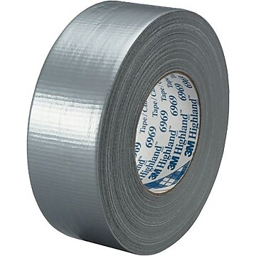 """3M 6969 Duct Tape, 10.7 Mil, 2"""" x 60 yds, Silver, 3/Case (T98769693PK)"""