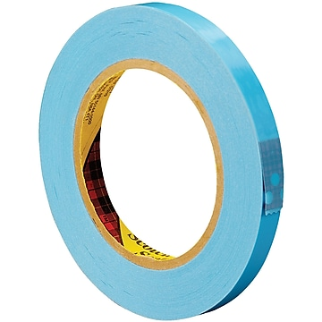 """3M 8896 Strapping Tape, 4.6 Mil, 1/2"""" x 60 yds., Blue, 72/Case (T9138896)"""