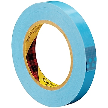"""3M 8896 Strapping Tape, 4.6 Mil, 3/4"""" x 60 yds., Blue, 12/Case (T914889612PK)"""