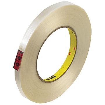 """3M 890MSR Strapping Tape, 8.0 Mil, 1/2"""" x 60 yds., Clear, 12/Case (T913890M12PK)"""