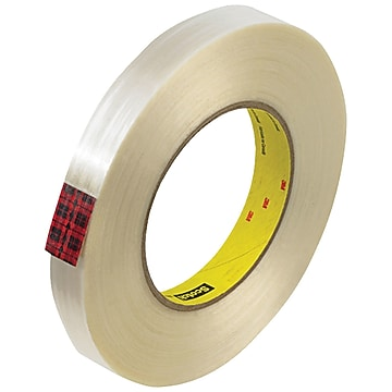 """3M 890MSR Strapping Tape, 8.0 Mil, 3/4"""" x 60 yds., Clear, 12/Case (T914890M12PK)"""