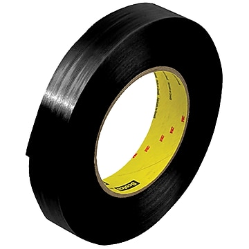 "3M 890MSRB Black Strapping Tape, 8.0 Mil, 1"" x 60 yds., Black, 12/Case (T915890B12PK)"