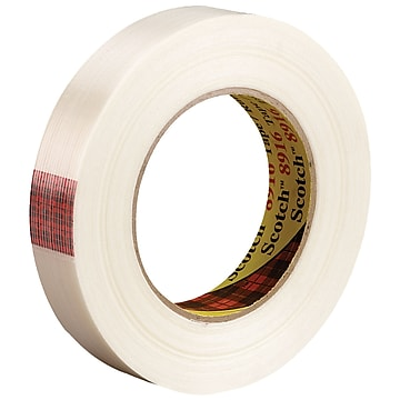"""3M 8916 Strapping Tape, 6.0 Mil, 3/4"""" x 60 yds., Clear, 12/Case (T914891612PK)"""