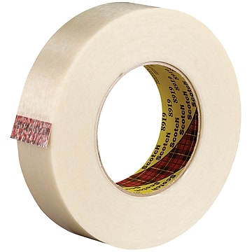 """3M 8919 Strapping Tape, 7.0 Mil, 1"""" x 60 yds., Clear, 36/Case (T9158919)"""