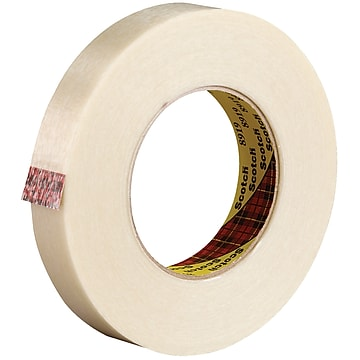 """3M 8919 Strapping Tape, 7.0 Mil, 3/4"""" x 60 yds., Clear, 12/Case (T914891912PK)"""