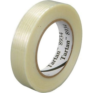 """3M 8934 Strapping Tape, 4.0 Mil, 1"""" x 60yds., Clear, 12/Case (T915893412PK)"""