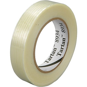 "3M 8934 Strapping Tape, 4.0 Mil, 2"" x 60yds., Clear, 12/Case (T917893412PK)"