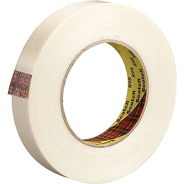 "3M 898 Strapping Tape, 6.6 Mil, 1/2"" x 60 yds., Clear, 12/case (T91389812PK)"