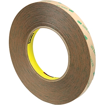 "3M 9472LE Adhesive Transfer Tape, Hand Rolls, 5.0 Mil, 1/2"" x 60 yds., Clear, 3/Case (T96394723PK)"