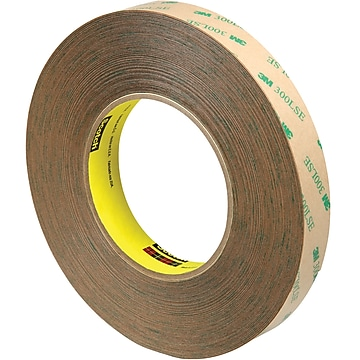 "3M 9472LE Adhesive Transfer Tape, Hand Rolls, 5.0 Mil, 3/4"" x 60 yds., Clear, 3/Case (T96494723PK)"