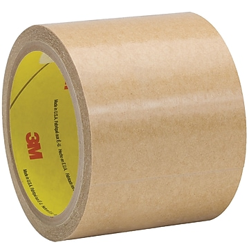"3M 950 Adhesive Transfer Tape, Hand Rolls, 5.0 Mil, 3"" x 60 yds., Clear, 6/Case (T9689506PK)"