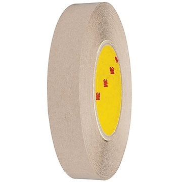 "3M 9627 Adhesive Transfer Tape, Hand Rolls, 5.0 Mil, 1"" x 60 yds., Clear, 6/Case (T96596276PK)"