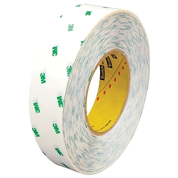 """3M 966 Adhesive Transfer Tape, Hand Rolls, 2.0 Mil, 1"""" x 60 yds., Clear, 6/Case (T9659666PK)"""