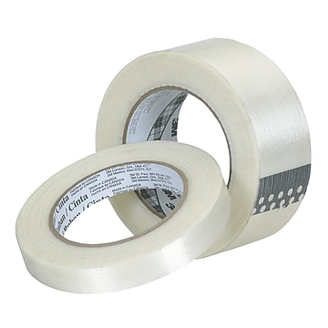 "3M™ 0.35"" x 60.14 yds. Polypropylene Film Filament Tape 8932, Clear, 96/Pack"