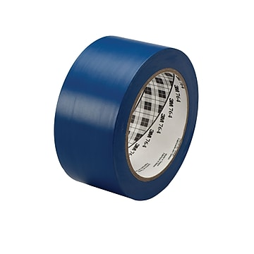 """3M™ 1"""" x 36 yds. General Purpose Solid Vinyl Safety Tape 764, Blue, 6/Pack"""