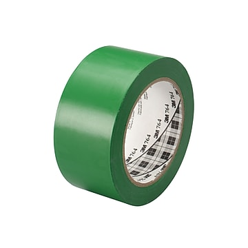 """3M™ 1"""" x 36 yds. General Purpose Solid Vinyl Safety Tape 764, Green, 6/Pack"""