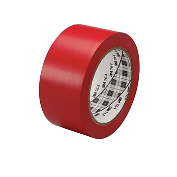 "3M™ 1"" x 36 yds. General Purpose Solid Vinyl Safety Tape 764, Red, 6/Pack"