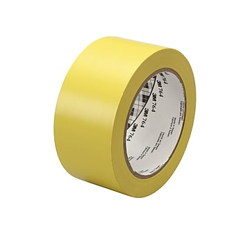 "3M™ 1"" x 36 yds. General Purpose Solid Vinyl Safety Tape 764, Yellow, 6/Pack"