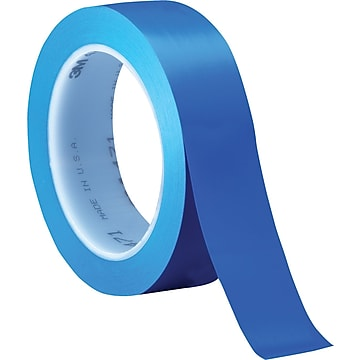 "3M™ 1"" x 36 yds. Solid Vinyl Safety Tape 471, Blue, 3/Carton"