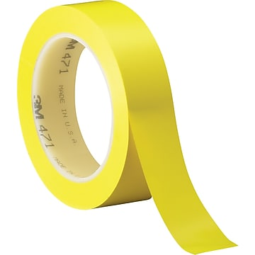 """3M™ 1"""" x 36 yds. Solid Vinyl Safety Tape 471, Yellow, 3/Carton"""