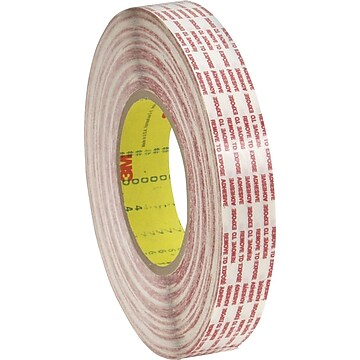 """3M™ 1"""" x 540 yds. Double Sided Extended Liner Tape 476XL, Translucent, 6/Case"""