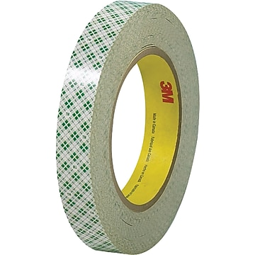 "3M™ 1/2"" x 36 Yards Double Sided Masking Tape 410M, Natural, 3 Rolls (T9534103PK)"