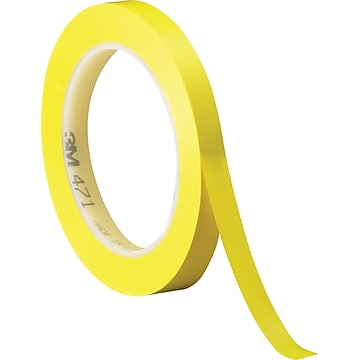 """3M™ 1/4"""" x 36 yds. Solid Vinyl Safety Tape 471, Yellow, 3/Pack"""