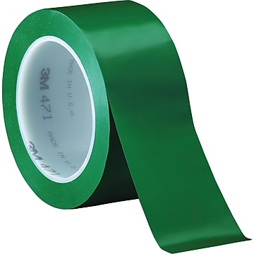 "3M™ 2"" x 36 yds. Solid Vinyl Safety Tape 471, Green, 3/Pack"