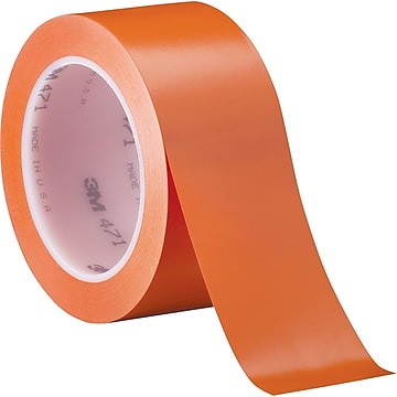 "3M™ 2"" x 36 yds. Solid Vinyl Safety Tape 471, Orange, 3/Pack"