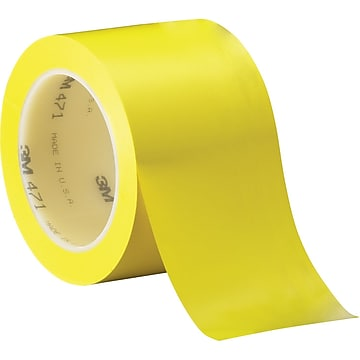"""3M™ 3"""" x 36 yds. Solid Vinyl Safety Tape 471, Yellow, 3/Pack"""