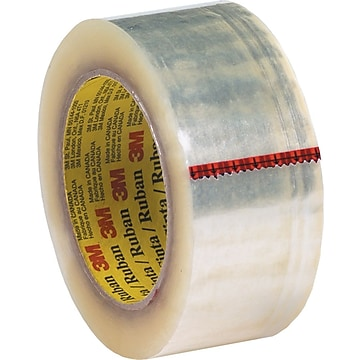 """3M™ #371 Hot Melt Packaging Tape, 2""""x55 yds., Clear, 36/Case"""