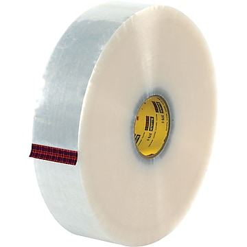 """3M™ #371 Hot Melt Packaging Tape, 3""""x1000 yds., Clear, 4/Pack"""