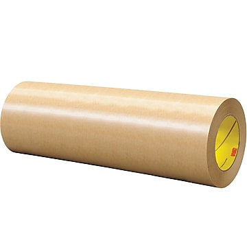 """3M™ 465 Adhesive Transfer Tape, Hand Rolls, 12"""" x 60 yds., Clear, 1/Case (T96124651PK),Size: med"""