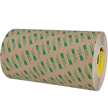 """3M™ 468MP Adhesive Transfer Tape, Hand Rolls, 12"""" x 60 yds., Clear, 1/Case (T96124681PK),Size: med"""