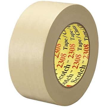 "3M™ Scotch 2308 Masking Tape, 2"" x 60 yds., Natural, 12/Case (T937230812PK)"