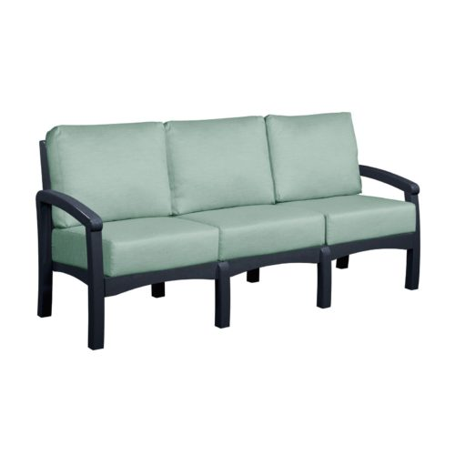CRP Products Bay Breeze Black Frame Sofa with Canvas Spa Cushion