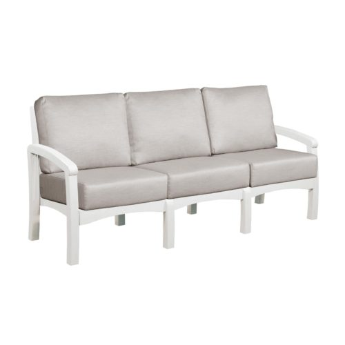 CRP Products Bay Breeze White Frame Sofa with Spotlight Ash Cushion