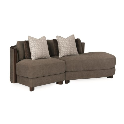 Caracole Modern Streamline Commodore Left Arm Facing Chair Sectional