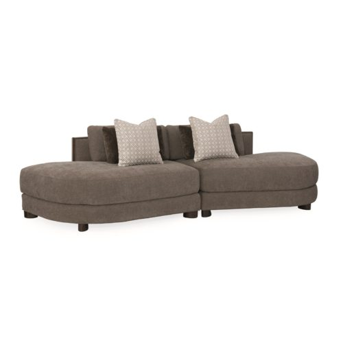 Caracole Modern Streamline Commodore Right Arm Facing Chaise Sectional