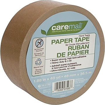 "Caremail Paper Packing Tape, 1.88""W x 40 Yards, (119059)"