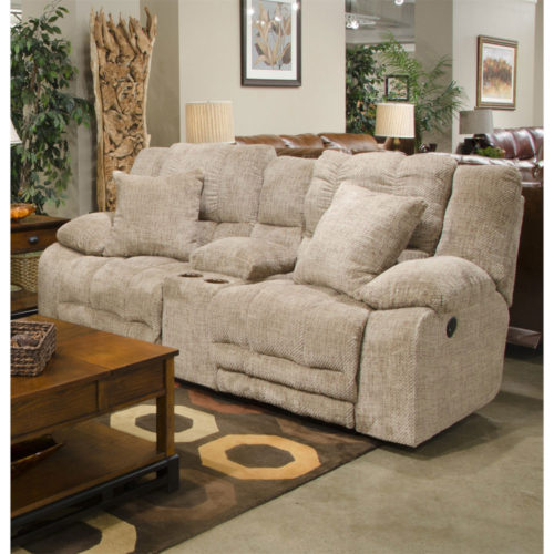Catnapper Branson Reclining Console Loveseat with Extended Ottoman and with Storage and Cupholders