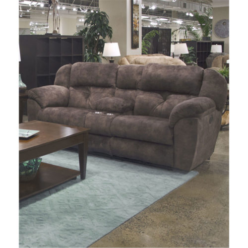 Catnapper Carrington Lay Flat Reclining Console Loveseat with Storage and Cupholders in Dusk