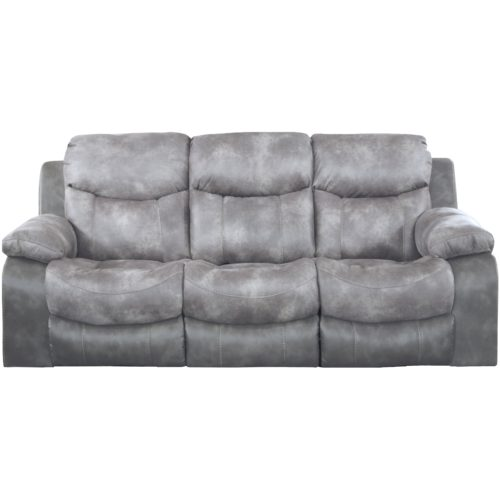 Catnapper Henderson Reclining Sofa with Drop Down Table in Steel