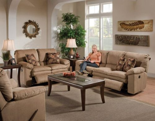 Catnapper Impulse 3 Piece Living Room Set in Cafe