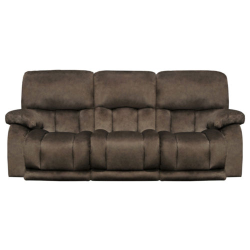 Catnapper Kendall Power Headrest Power Lay Flat Reclining Sofa with Drop Down Table and Extended Ottoman