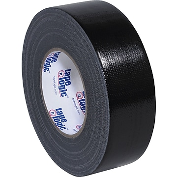 """Colored Duct Tape, Black, 2"""" x 60 yards, 3/Pack"""