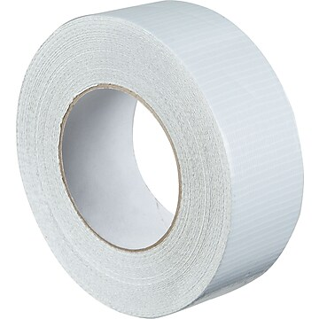 "Colored Duct Tape, White, 2"" x 60 yards, 3/Pack"