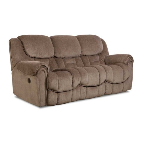 HomeStretch Del Mar Power Reclining Sofa in Taupe